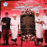 Penandatanganan Prasasti oleh Gubernur Bali Wayan Koster, Tonggak Pelaksanaan Perda Nomor 4 Tahun 2019